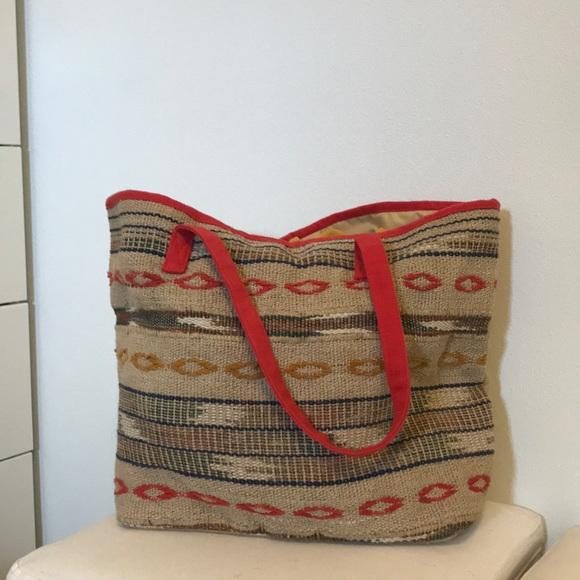 c4260a9799 Cost Plus World Market Handbags - Woven beach bag boho style World Market  tote